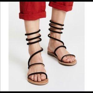 Free People Havana Gladiator Sandals 39 Or 9 Black